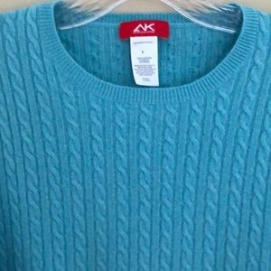 Anne Klein Cashmere Cable Knit Sweater Large